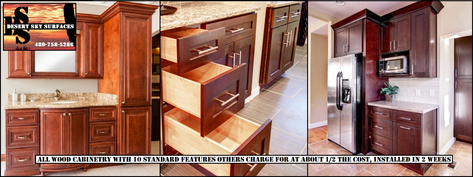Affordable Quality all wood JK Kitchen Bath Cabinets Mesa Gilbert Chandler AZ