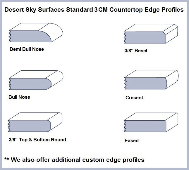Countertop Edge Profiles : ... Standard 3CM Countertop Edge Profiles span the most popular profiles