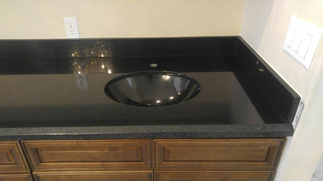 Granite Sink India : ... Granite Countertop Fabricator Indian Premium Black Matching Sink