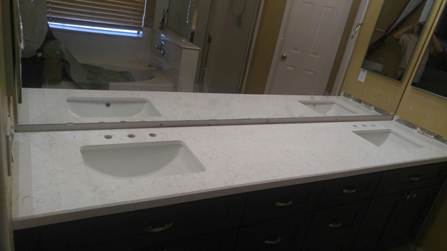 . 3 Bathroom Remodel Quartz Countertops Chandler AZ