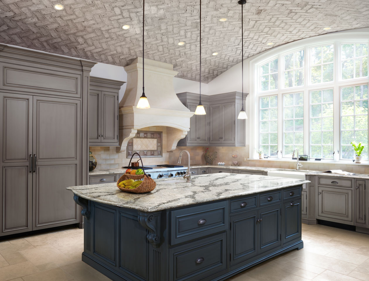 quartz countertops front with kitchen white and cabinets photo gray modern features flat paired a dark