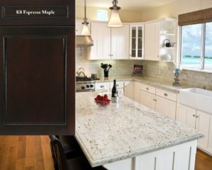 Beau This Kitchen Features White Cabinets With MSI Stoneu0027s White Cashew Granite  Countertops. These Countertops Can Be Paired With ...