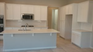 This Remodel By Desert Sky Surfaces In Chandler Az Features 3 Cm Della Terra Quartz Kitchen Countertops White Sand On Cabinets