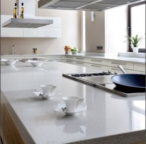 Arizona Tileu0027s Oceana Quartz Countertop Is A Very Versatile. This Alm Ost Solid  White ...